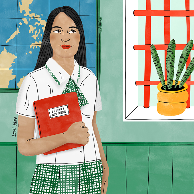 Shaina says girls need to be empowered. Illustration by Bodil Jane for UNFPA.