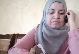 Maysah Shalaldeh, a social worker, provides counselling over the phone. Maysah Shalaldeh, a social worker