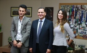 Dr. Samir Hleileh, Executive Director, PADICO Holdings, appoints two youth to be ED for one day
